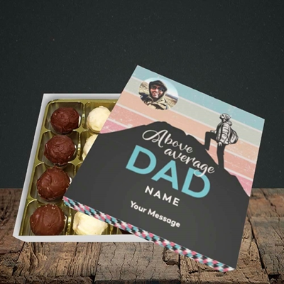 Picture of Above Average Dad, Father's Day Design, Choc 16