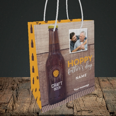Picture of Hoppy, Father's Day Design, Small Portrait Gift Bag