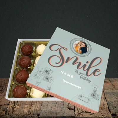 Picture of Camera Smile, Birthday Design, Choc 16