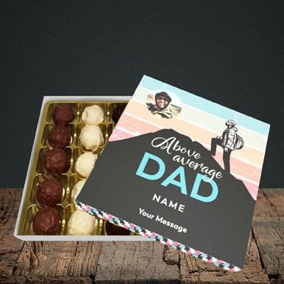 Picture of Above Average Dad, Father's Day Design, Choc 25