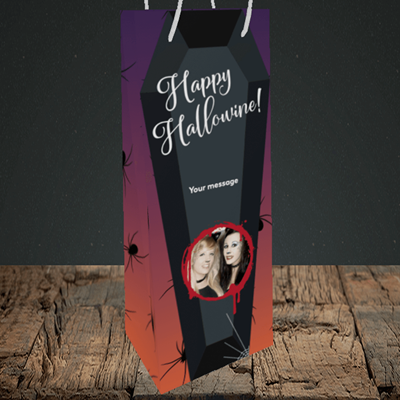 Picture of Spider, Halloween Design, Bottle Bag
