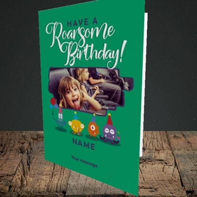 Picture of Roarsome, Birthday Design, Portrait Greetings Card