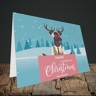 Picture of Countdown(Without Photo), Christmas Design, Landscape Greetings Card