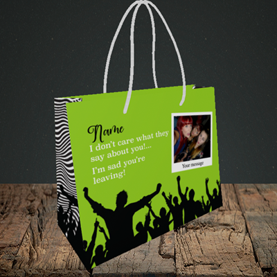 Picture of Crowd, Leaving Design, Small Landscape Gift Bag