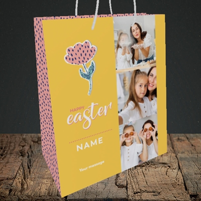 Picture of Easter Flower, Easter Design, Medium Portrait Gift Bag