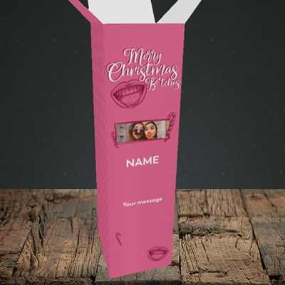 Picture of Merry Christmas Bitches, Christmas Design, Upright Bottle Box