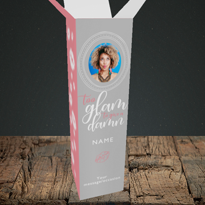 Picture of Glam, Birthday Design, Upright Bottle Box