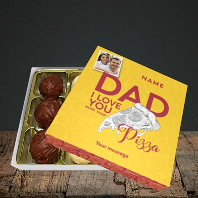 Picture of Love You More Than Pizza, Father's Day Design, Choc 9