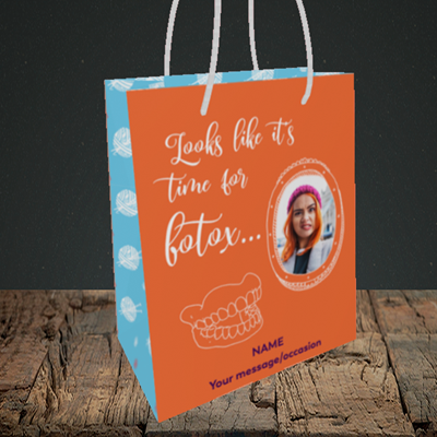 Picture of Botox, Birthday Design, Small Portrait Gift Bag