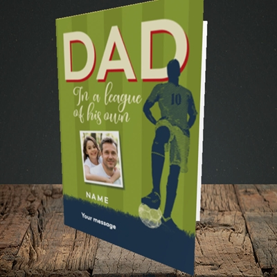 Picture of League Of His Own, Father's Day Design, Portrait Greetings Card