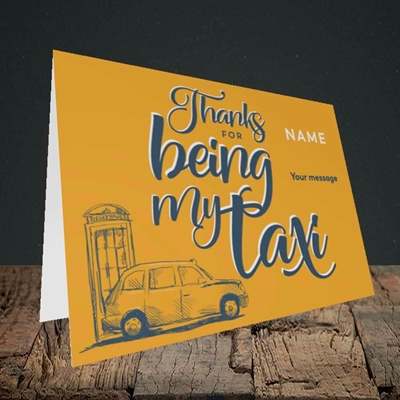 Picture of Taxi(Without Photo), Mother's Day Design, Landscape Greetings Card