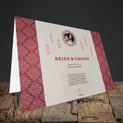 Picture of Moroccan Influences Red B&G, Wedding Design, Landscape Greetings Card