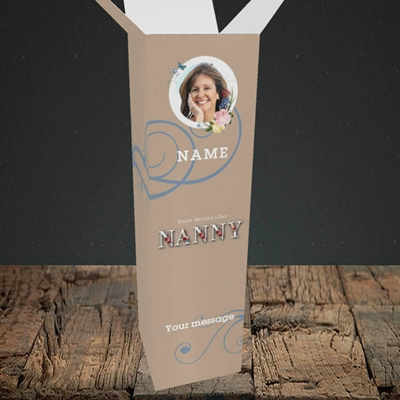Picture of Nanny Floral Letters, Mother's Day Design, Upright Bottle Box