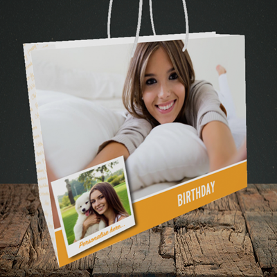 Picture of Photo, Birthday Design, Medium Landscape Gift Bag