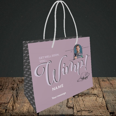Picture of Wimp!, Get Well Soon Design, Small Landscape Gift Bag