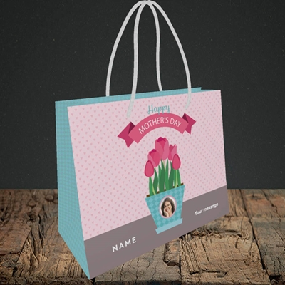 Picture of Flowers On The Table, Mother's Day Design, Small Landscape Gift Bag