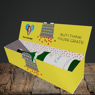Picture of Cheesy Love, Valentine's Design, Lay-down Bottle Box