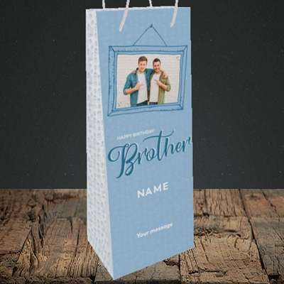 Picture of Brother, Birthday Design, Bottle Bag