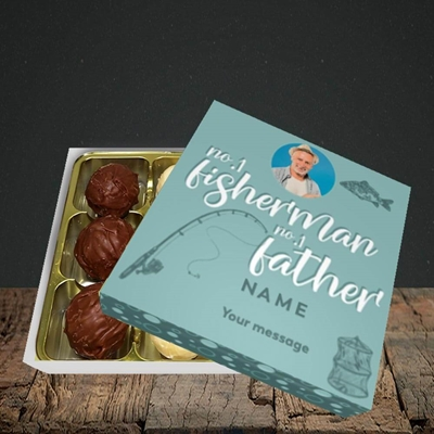 Picture of Fisherman, Father's Day Design, Choc 9