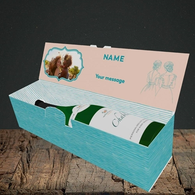Picture of Be My Bridesmaid, Wedding Design, Lay-down Bottle Box