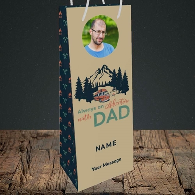 Picture of Camper Van With Dad, Father's Day Design, Bottle Bag