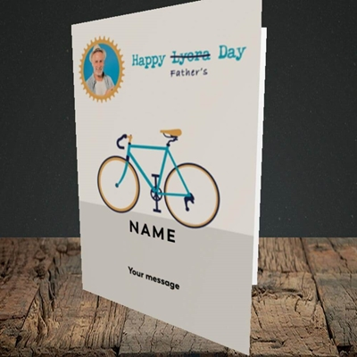 Picture of Lycra Day, Father's Day Design, Portrait Greetings Card