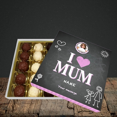 Picture of I Love Mum (Chalk Board), Choc 25
