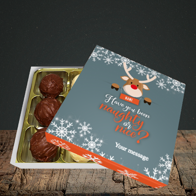 Picture of Naughty, (Without Photo) Christmas Design, Choc 9