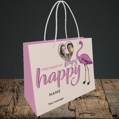 Picture of Happy Flaps, Valentine's Design, Small Landscape Gift Bag