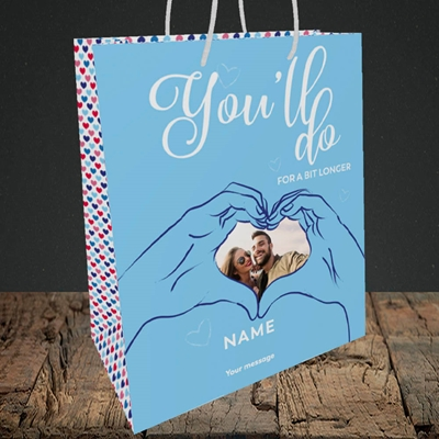 Picture of You'll Do For A Bit Longer, Anniversary Design, Medium Portrait Gift Bag