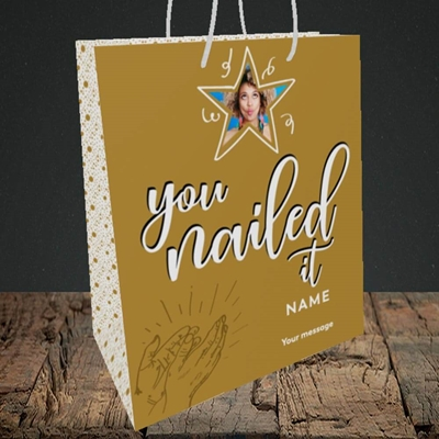 Picture of Nailed It, Graduation Design, Medium Portrait Gift Bag