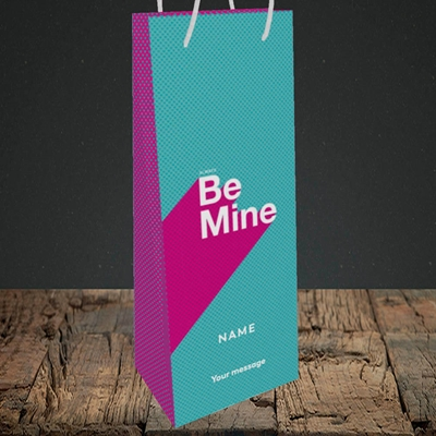 Picture of Always be Mine (type) (Without Photo), Valentine's Design, Bottle Bag