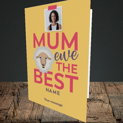 Picture of Ewe The Best, Mother's Day Design, Portrait Greetings Card
