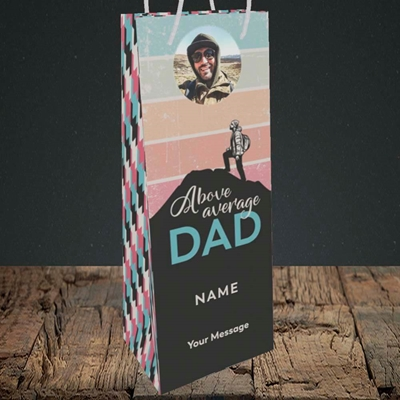 Picture of Above Average Dad, Father's Day Design, Bottle Bag