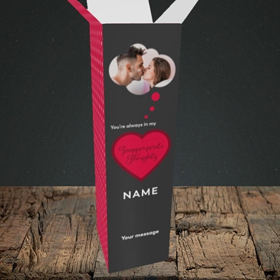 Picture of Inappropriate Thoughts, Valentine's Design, Upright Bottle Box