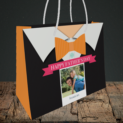 Picture of Bowtie, Father's Day Design, Medium Landscape Gift Bag