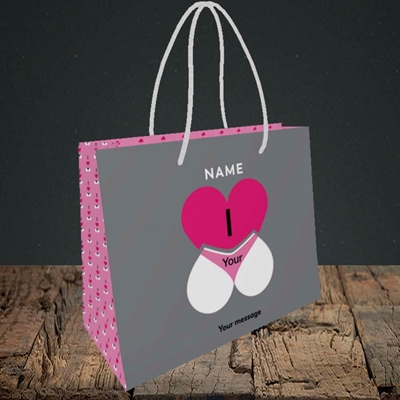 Picture of I Love Your Bum(Without Photo), Valentine's Design, Small Landscape Gift Bag