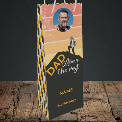 Picture of Dad Above The Rest, Father's Day Design, Bottle Bag