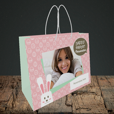 Picture of Rabbits, Easter Design, Small Landscape Gift Bag