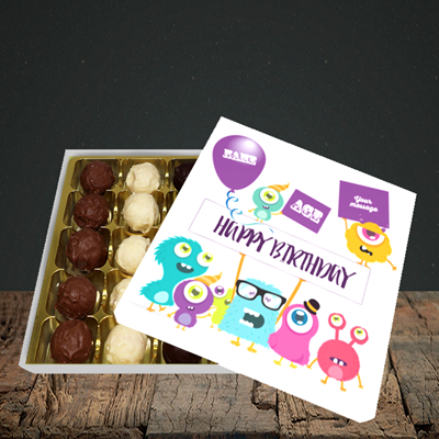 Picture of Monster, (Without Photo and editable age) Birthday Design, Choc 25