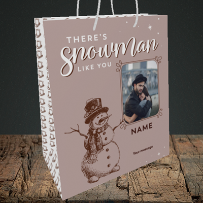 Picture of Snowman Like You, Christmas Design, Medium Portrait Gift Bag