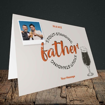 Picture of Stout-standing Father, Father's Day Design, Landscape Greetings Card