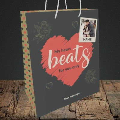 Picture of Beats For You, Valentine's Design, Medium Portrait Gift Bag