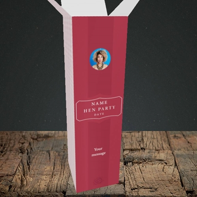 Picture of Elegance Of Rose - Red, Wedding Design, Upright Bottle Box