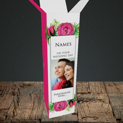 Picture of Flowers, Wedding Design, Upright Bottle Box