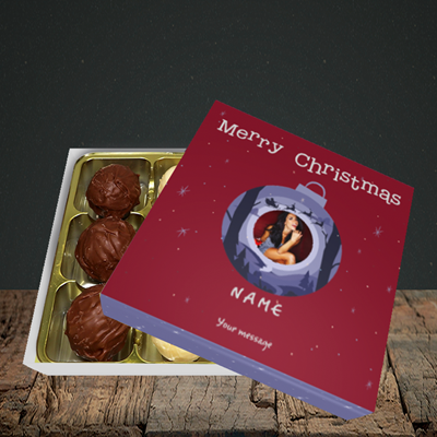 Picture of Bauble Scene, Christmas Design, Choc 9