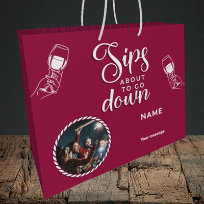 Picture of About To Go Down, New Year Design, Medium Landscape Gift Bag