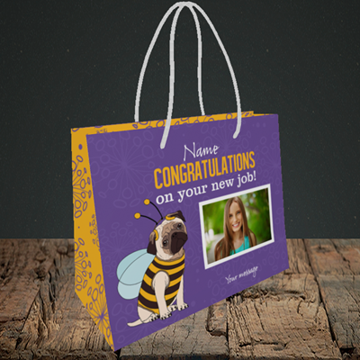 Picture of Bee, New Job Design, Small Landscape Gift Bag