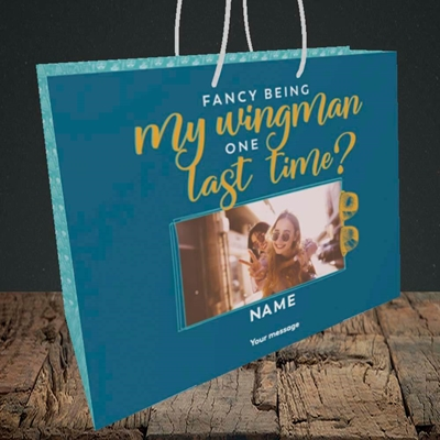 Picture of Wingman, Wedding Design, Medium Landscape Gift Bag
