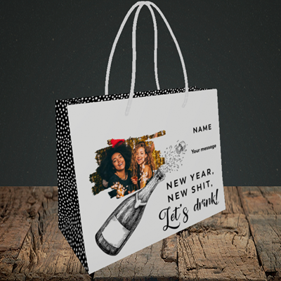 Picture of Let's Drink, New Year Design, Small Landscape Gift Bag